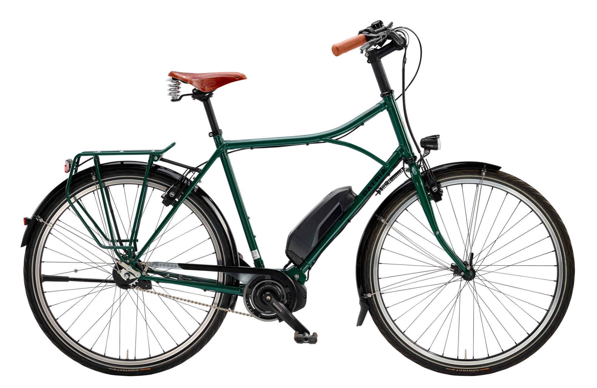 "Dublin Hybrid 28"", Shimano Steps, Alfine Di2 8-Gang Diamant, british green, Sonderausstattung: Tubus Cargo in Rahmenfarbe"